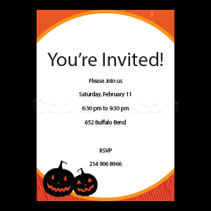 Happy Pumpkins - Custom Invitations