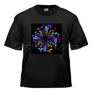 LED Sound Activated T-Shirt - Kaleidoscope