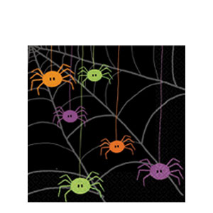 Spider Frenzy Luncheon Napkins- 20ct