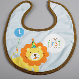 Sweet at One Boy Fabric Bib