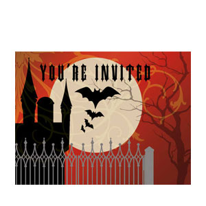 Frightful Night Postcard Invitations- 8ct