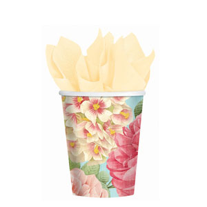 Blissful Blooms 9 oz. Cups- 18ct