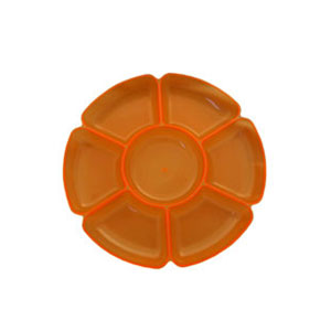 Neon 16 Inch Sectional Serving Tray - Orange