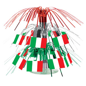 Italian Flag Mini Cascade Centerpiece- 7in