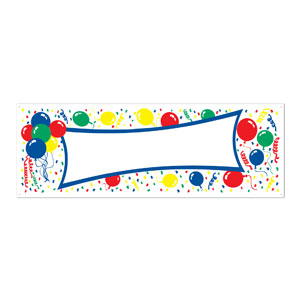 Balloons Blank Sign Banner - 5ft