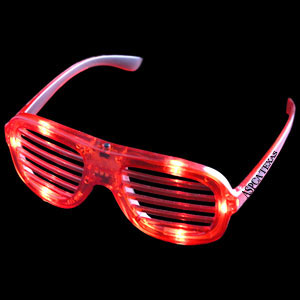 LED Slotted Shades - Red