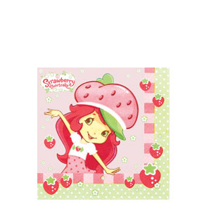 Strawberry Shortcake Beverage Napkins- 16ct