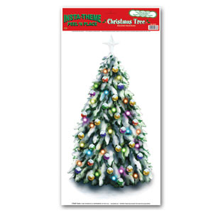 Christmas Tree Peel n Place - 12x24in