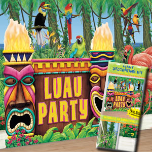 Luau Party Giant Decorating Kit- 6pc