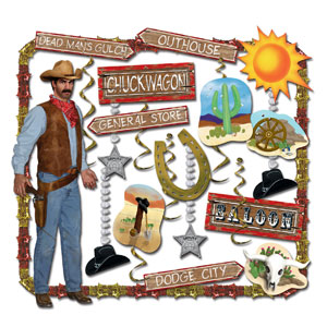 Western Party Decorating Kit- 27pc