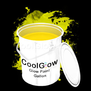 Glominex Glow Paint Gallon - Yellow