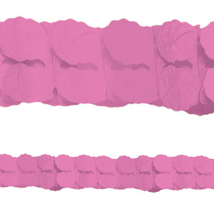 Pink Paper Garland- 12ft