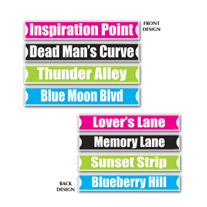 Rock n Roll Street Sign Cutouts - 4ct