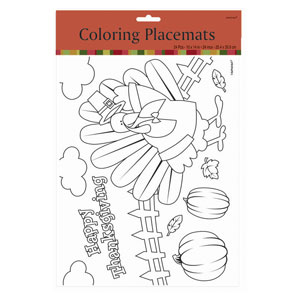 Thanksgiving Coloring Placemats- 24ct