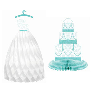 Robin's Egg Blue Honeycomb Dress and Cake Centerpiece- 3pc