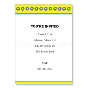 Star of David - Custom Invitations