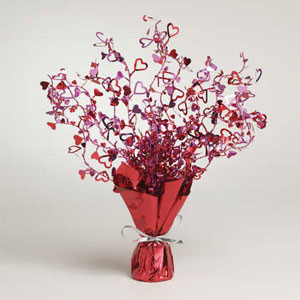 Hearts Foil Spray Centerpiece