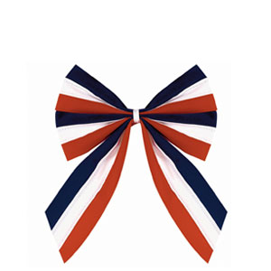 Velvet Flag Bow - 10in