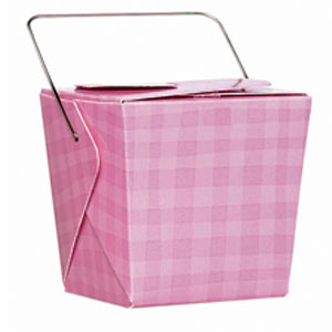 Pink Plaid Pails- 12ct