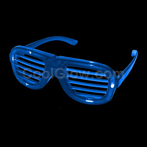LED Shutter Slotted Shades - Blue