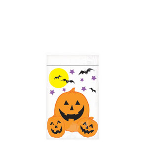 Halloween Re-Sealable Goody Bags- 12ct