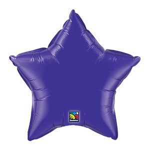 20 Inch Star Metallic Balloon- Quartz Purple