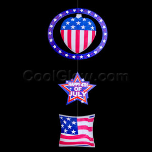 3-Tier Inflatable Patriotic Dangle