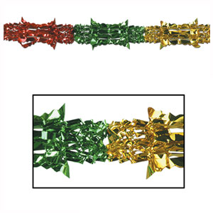 Multicolored Metallic Garland - 9ft