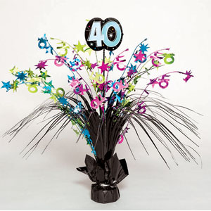 The Party Continues-40 Spray Centerpiece- 15in