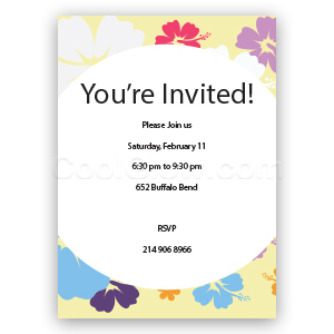 Hibiscus Flowers - Custom Invitations