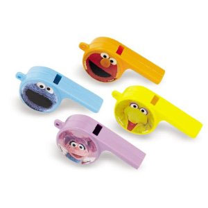 Sesame Street Whistle Favors - 12ct