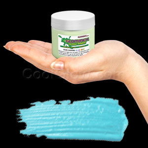 Glominex Glow Paint Invisible Day 4 oz Jar Aqua