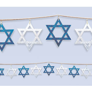 Star of David Prismastic String Garland