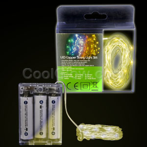LED 10 Foot Copper String Light - Yellow