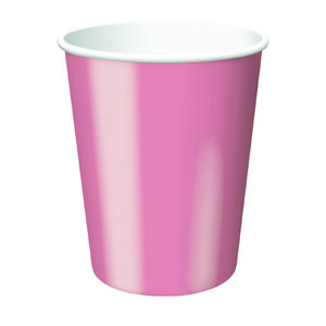 Candy Pink 9 oz. Cups