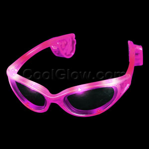 Fun Central AD626 LED Light Up Sunglasses - Pink