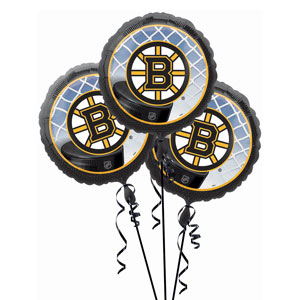 Boston Bruins 3 Pack Balloons- 18in