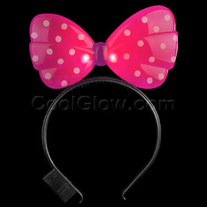 LED Minnie Mouse Headband - Pink