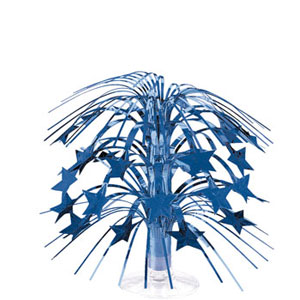 Blue Stars Foil Spray Centerpiece- 8in