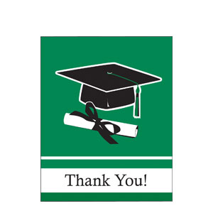 Grad Thank You Card - Green