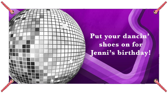 Disco Ball on Purple - Custom Banner