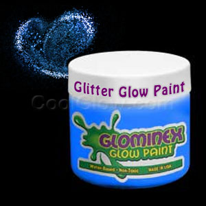 Glominex Glitter Glow Paint Pint - Blue