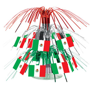 Mexican Flag Mini Cascade Centerpiece- 7in