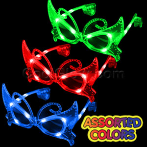 LED Butterfly Sunglasses - Assorted