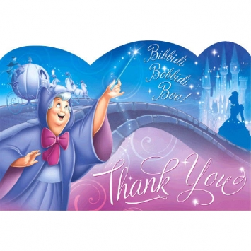 Disney Cinderella Thank You Cards