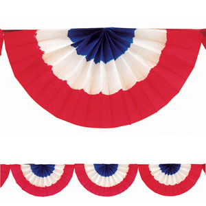 Patriotic Bunting Garland - 9 ft.