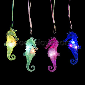 LED Jelly Seahorse Necklaces - Assorted
