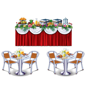 Cruise Ship Buffet Props- 3pc