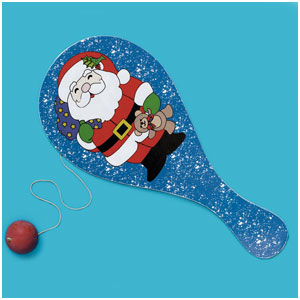 Holiday Paddle Ball- 8 Inch