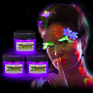 Glominex Glow Body Paint 1oz Jar - Purple